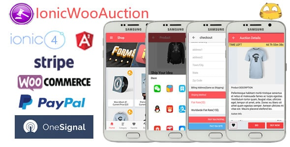 IonicWooAuction-ionic 4 Auction App with WooCommerce - CodeCanyon Item for Sale