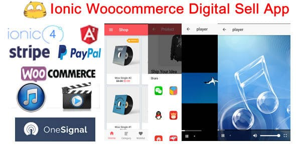 IonicWooDigitalStore-Ionic4 Woocommerce Digital Sell Store App
