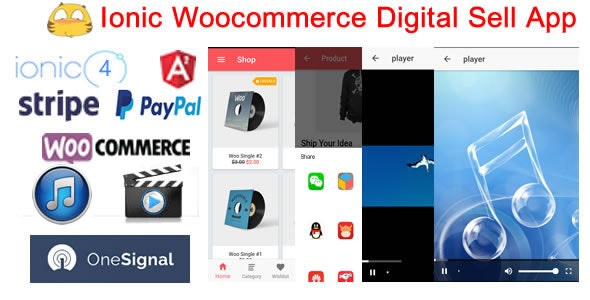 IonicWooDigitalStore-Ionic4 Woocommerce Digital Sell Store