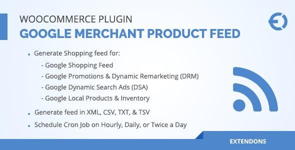 WooCommerce Google Merchant Product Feed Plugin - DRM, DSA & More