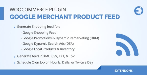 WooCommerce Google Merchant Product Feed Plugin - DRM, DSA & More - CodeCanyon Item for Sale