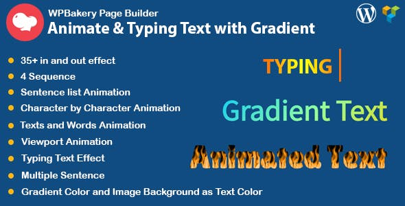 WPBakery Page Builder Animated Text and Typing Effect with Gradient