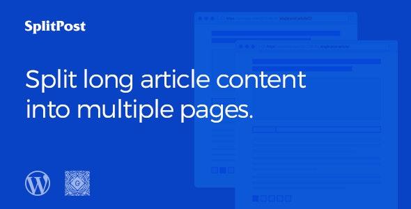 Epic Split Post - Post Content Splitter as Slider / Smart List with