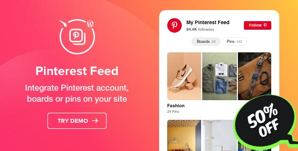 Pinterest Feed - WordPress Pinterest Feed plugin