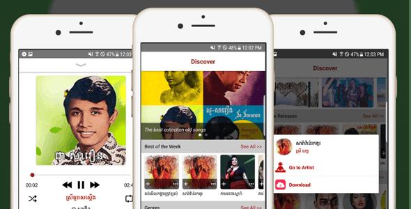 Samneang Music Android Streaming - Java