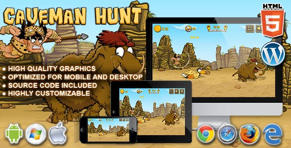 Caveman Hunt - HTML5 Launch Game