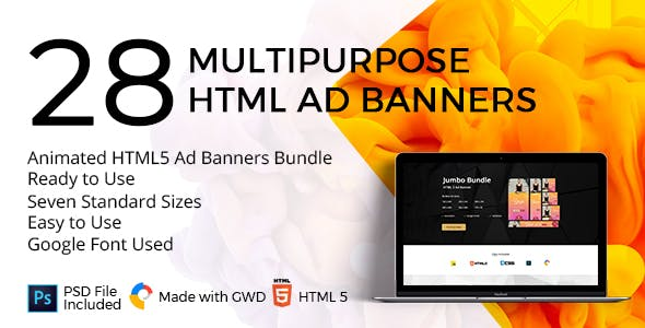 The Best-Seller Animated HTML5 Ad Banners