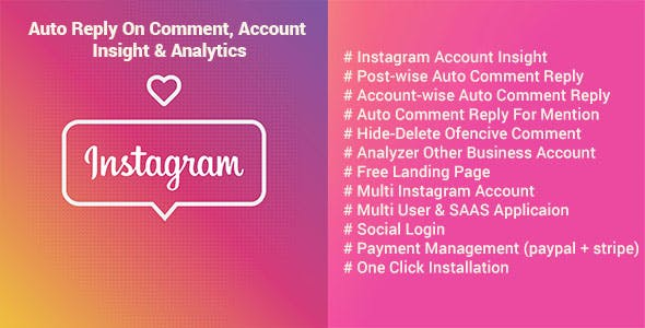 InstantShutter - Instagram Auto Reply On Comment, Account Insight & Analyzer        Nulled