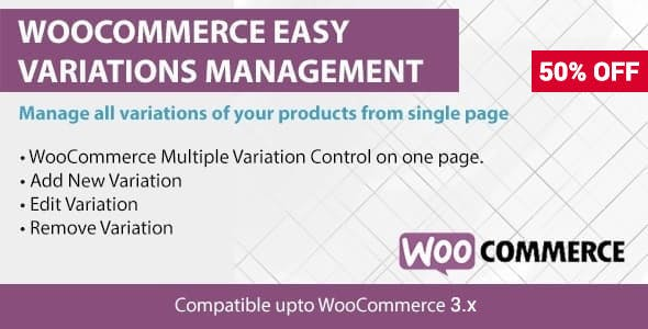WooCommerce Easy Variations Management