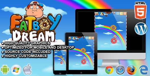 FatBoy Dream - HTML5 Skill Game by codethislab | CodeCanyon