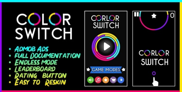 Color Switch - BBDOC Buildbox + AdMob + Easy Reskin by TheYashChouhan