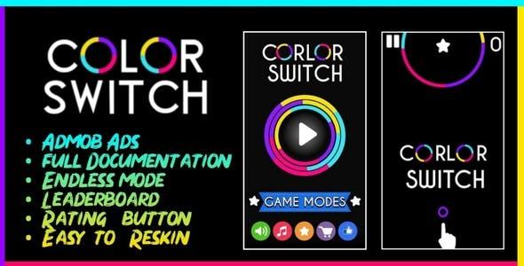 Color Switch - BBDOC Buildbox + AdMob + Easy Reskin