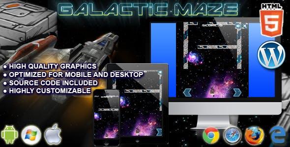 Galactic Maze - HTML5 Arcade Game