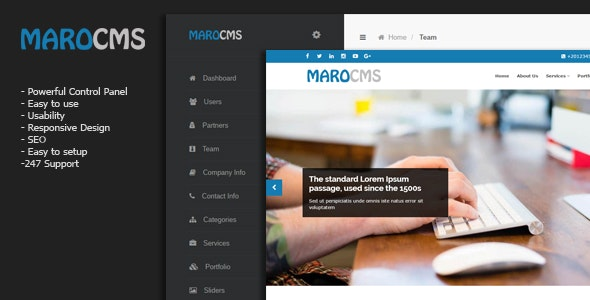 MaroCMS -  Business CMS - CodeCanyon Item for Sale