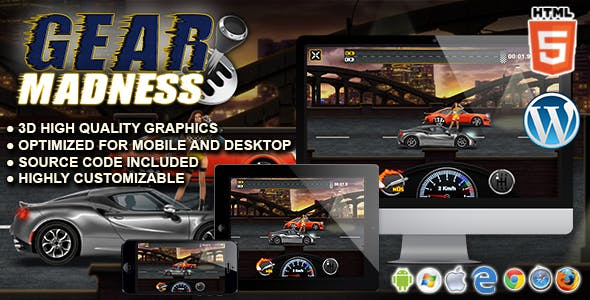 Gear Madness - HTML5 Racing Game