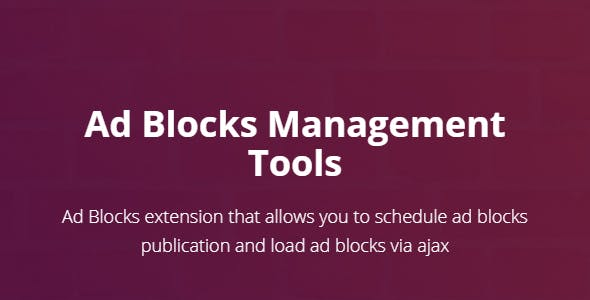 Ad Blocks Management Tools
