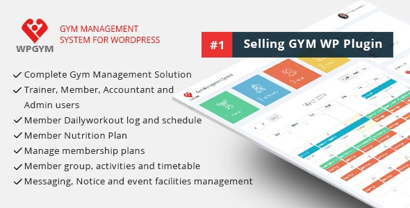WPGYM - Wordpress Gym Management System by dasinfomedia