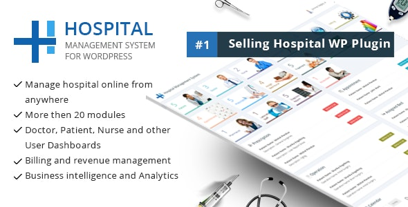 Hospital Management System for Wordpress - CodeCanyon Item for Sale
