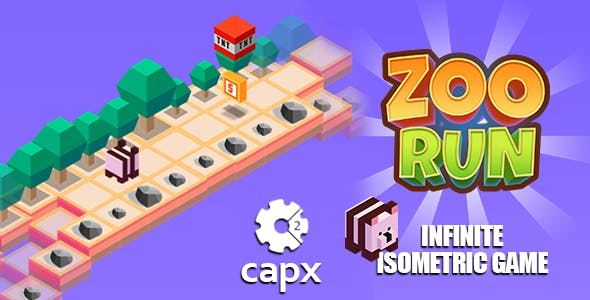 Isometric Zoo Run Game - HTML5 & CAPX