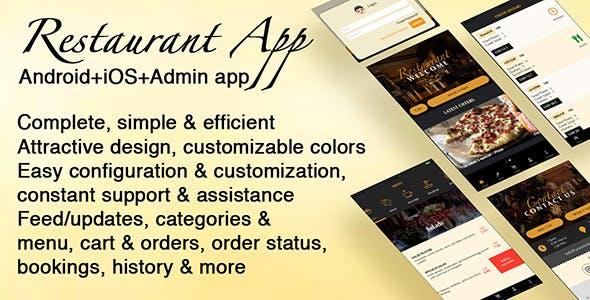 Restaurant App [Android+iOS+Admin]