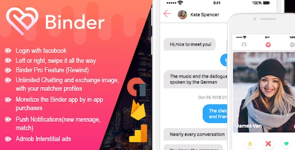 Binder - Dating clone App with admin panel - iOS - CodeCanyon Item for Sale