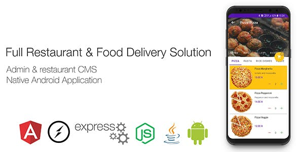 Restaurant & Food Delivery Android Solution with CMS