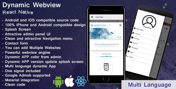 Dynamic Webview | Web2app | iOS | Android | React Native