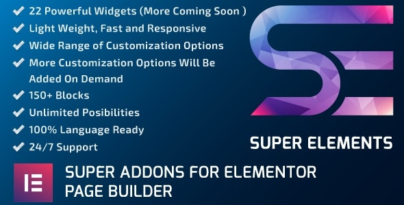 Super Elements - Addons for Elementor by themerevealed