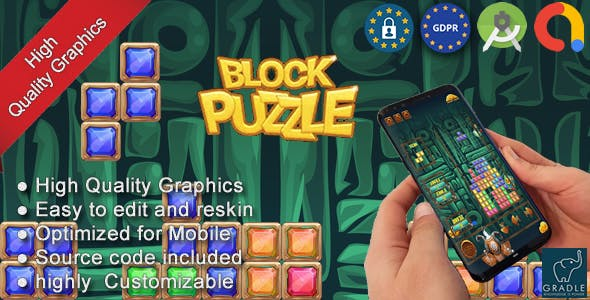Puzzle Block Pharaoh Egypt (Admob + Android studio) - 12