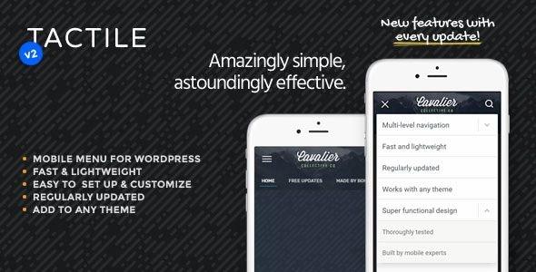 Tactile: WordPress Mobile Menu - CodeCanyon Item for Sale