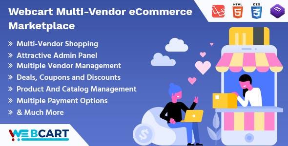 Web-cart Multi-Vendor eCommerce Marketplace        Nulled