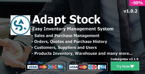 Adapt Stock - Easy Inventory System by hrsale | CodeCanyon