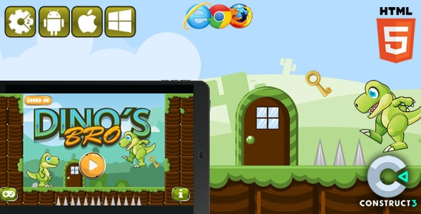 Dinos Bro - Hrml5 Game (CAPX) - CodeCanyon Item for Sale