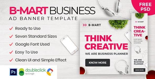 B-Mart | Business HTML 5 Animated Google Banner