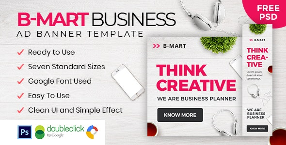 B-Mart | Business HTML 5 Animated Google Banner - CodeCanyon Item for Sale