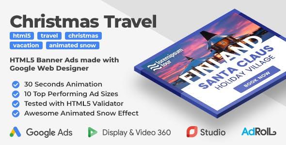 Christmas Travel -  Animated HTML5 Banner Templates (GWD)
