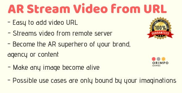 Augmented Reality Video Streaming from remote Server - Unity3D App Template Project