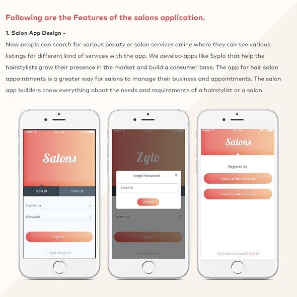 Salon Beauty Service Appointment Booking iOS Mobile Application Template - CodeCanyon Item for Sale