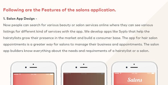 Salon Beauty Service Appointment Booking iOS Mobile Application Template