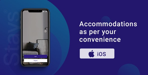 Stays | Room Booking App | iOS Template - CodeCanyon Item for Sale