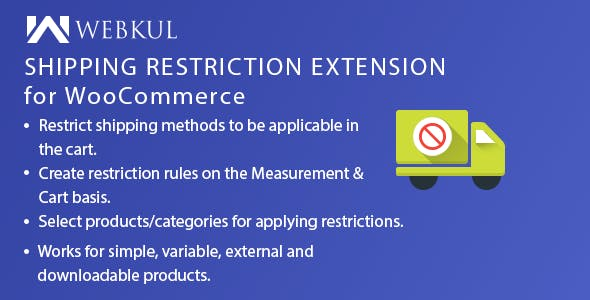 Shipping Restriction Plugin for WooCommerce