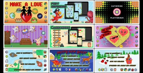 HTML5 GAMES BUNDLE №1 (Construct 3 | Construct 2 | Capx) - CodeCanyon Item for Sale