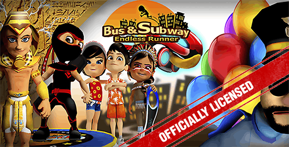 (Android And iOS) Bus & Subway Endless runner with Multiplayer - CodeCanyon Item for Sale