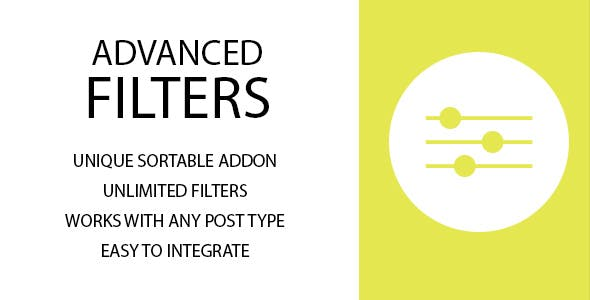Advanced Filters Sortable Addon