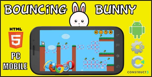 Bouncing Bunny HTML5 Game