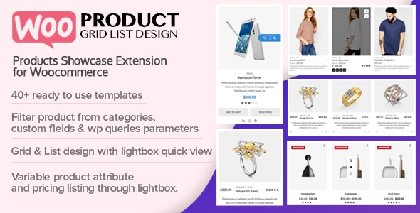WOO Product Grid/List Design- Responsive Products Showcase