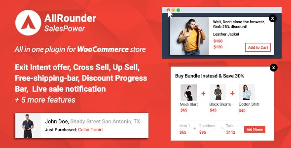 SalesPower - WooCommerce Cross Sell, Upsell, Live Sales Notifications, Discount Bar,Exit Intent