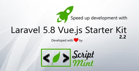 Laravel 5 8 Vue js SPA Bootstrap Admin Starter Kit by