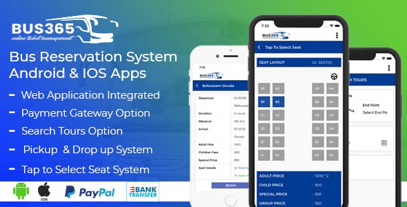 Bus365 Apps | Bus Reservation System Android and IOS Apps by