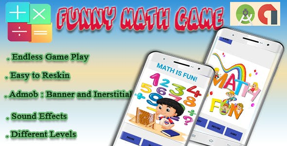 Funny Math Game - Android Game with Admob